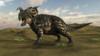Brown Einiosaurus walking across a barren landscape Poster Print - Item # VARPSTKVA600443P