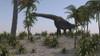 Large Brachiosaurus grazing on foliage Poster Print - Item # VARPSTKVA600519P