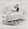 19th century lady arriving at a ball wearing a crinoline. From Illustrierte Sittengeschichte vom Mittelalter bis zur Gegenwart by Eduard Fuchs, published 1909. PosterPrint - Item # VARDPI2430218