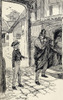 Oliver Encounters A Mysterious Stranger. Illustration By W.S. Stacey From The Book The Adventures Of Oliver Twist By Charles Dickens. PosterPrint - Item # VARDPI1903520