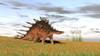 Kentrosaurus walking across a grassy field Poster Print - Item # VARPSTKVA600575P