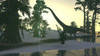 Mamenchisaurus and her offspring walking a prehistoric environment Poster Print - Item # VARPSTKVA600414P