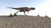 Ceratosaurus running across a barren landscape Poster Print - Item # VARPSTKVA600487P