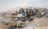The Indian Encirclement Of General Custer At The Battle Of The Little Big Horn. Custer's Last Stand. After A Work By Charles Marion Russell. PosterPrint - Item # VARDPI1959500