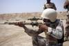 June 23, 2006 - Iraqi Army Sergeant sights in down range during an advanced marksmanship course aboard Camp Fallujah, Iraq. Poster Print - Item # VARPSTSTK102160M