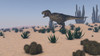 Tyrannosaurus Rex hunting in a desert environment Poster Print - Item # VARPSTKVA600002P