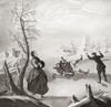 Ice skating in the 18th century. From Illustrierte Sittengeschichte vom Mittelalter bis zur Gegenwart by Eduard Fuchs, published 1909. PosterPrint - Item # VARDPI2430252