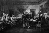 1976 John Trumbull'S Rendering Of The Signing Of The Declaration Of Independence Print By Vintage Collection - Item # VARPPI187827