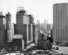 1950s Looking South At 61St Street Coliseum Tower Columbus Circle Excavation For New Building Bottom Center New York - Item # PPI195982LARGE