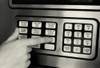 1980s Hand Pressing Buttons On Panel Of Vintage Automatic Teller Machine Atm Print By Vintage Collection - Item # PPI177927LARGE