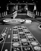 1960s Casino Viewed From End Of Roulette Table Opposite Of Wheel Looking Toward Statues Of Female Showgirls Print By - Item # PPI172429LARGE
