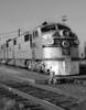 1950s-1960s Streamlined Burlington Route Railroad Train Diesel Locomotive Engine At Station Print By Vintage Collection - Item # PPI178920LARGE