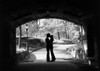 1960s Silhouette Of Young Couple Embracing Kissing At Entrance To Central Park Tunnel New York City Usa Print By Vintage - Item # VARPPI176638