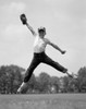 1960s Boy Jumping In Outfield To Catch Baseball With Gove Poster Print By Vintage Collection (22 X 28) - Item # PPI177772LARGE
