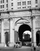 1900s-1916 One Of The Last Horse Drawn Trolleys Coming Through Arch Of The Municipal Building Lower Manhattan New York - Item # PPI177631LARGE