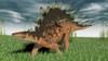 Kentrosaurus walking across prehistoric grasslands Poster Print - Item # VARPSTKVA600580P