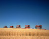 1970s Five Massey Ferguson Combines Harvesting Wheat Nebraska Usa Poster Print By Vintage Collection - Item # VARPPI177446