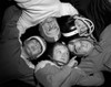 1960s Five Boys In Huddle Wearing Helmets & Football Jerseys The View Is From Inside The Huddle Looking Up Print By - Item # VARPPI177250