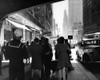 1940s Grand Central Station Men And Women Pedestrians A Sailor In Uniform Taxi And Stores 42Nd Street Sidewalk Nyc Usa - Item # PPI195785LARGE