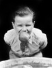 1930s Boy Bobbing For Apples With An Apple In His Mouth Looking At Camera Poster Print By Vintage Collection (22 X 28) - Item # PPI177394LARGE