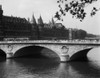 1930s Hotel De Ville And Bridge On River Seine Paris France Poster Print By Vintage Collection - Item # VARPPI178682