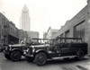 1920s-1930s Two Fire Trucks With Los Angeles City Hall California Usa In Background Print By Vintage Collection - Item # VARPPI176961