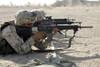 Camp Baharia, Iraq, August 7, 2005 - Marine fires their M16A2 service rifles to acquire a battle sight zero. Poster Print - Item # VARPSTSTK101982M