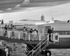1950s Men And Women Walking Down Ramp Boarding Commercial Jet Airliner Idlewild Airport New York City Usa Print By - Item # VARPPI177922
