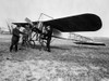 1910s Group Of Three Men Standing In Front Of Early Monoplane One With Hand On Propeller Print By Vintage Collection - Item # VARPPI194863