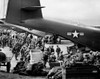 1960s Military Personnel Gathered Under Tails Of Planes In Airfield Waiting To Be Airlifted For Special Operation In - Item # VARPPI177520