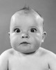 1950s Close-Up Of Baby With Bulging Eyes Staring Cross-Eyed Portrait Studio Poster Print By Vintage Collection - Item # VARPPI172404