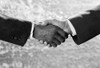 1970s Handshake Close-Up African American And Caucasian Businessman Shaking Hands Studio Indoor Print By Vintage - Item # PPI179096LARGE