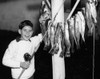 1950s Smiling Boy Proudly Displaying His Fish Catch Looking At Camera Poster Print By Vintage Collection (22 X 28) - Item # PPI176384LARGE