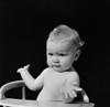 1930s-1940s Baby In High Chair Making Shrugging Gesture Poster Print By Vintage Collection - Item # VARPPI177334