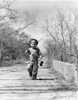 1940s Boy Walking Down Country Road With Can Of Worms And Fishing Pole Poster Print By Vintage Collection - Item # VARPPI176518