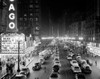 1950s-1953 Night Scene Of Chicago State Street With Traffic And Movie Marquee With Pedestrians On The Sidewalks Print By - Item # VARPPI172444