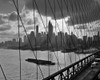 1950s-1960s Downtown Manhattan Skyline From Brooklyn Bridge Poster Print By Vintage Collection - Item # VARPPI180014