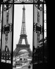 1920s Eiffel Tower Built 1889 Seen From Trocadero Wrought Iron Doors Paris France Print By Vintage Collection - Item # VARPPI172450