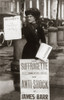 1900s British Suffragette Woman Distributing Literature Newsletter Flyer City Street Print By Vintage Collection - Item # PPI187887LARGE