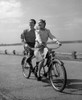 1950s Smiling Happy Couple Man Woman Riding Tandem Bicycle Built For Two Poster Print By Vintage Collection (32 X 36) - Item # PPI177064LARGE