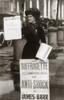 1900s British Suffragette Woman Distributing Literature Newsletter Flyer City Street Print By Vintage Collection - Item # VARPPI187887
