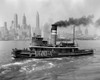 1940s Steam Engine Tugboat On Hudson River With New York City Skyline In Smokey Background Outdoor Print By Vintage - Item # VARPPI172463
