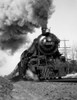 1920s-1930s Steam Engine Pulling Passenger Train Smoke Billowing From Exhaust Stack Print By Vintage Collection - Item # PPI178659LARGE
