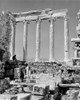 1960s Book Reader Sitting Among Greek Columns Architecture Ruins Before Restoration Parthenon Athens Acropolis Print By - Item # VARPPI178926