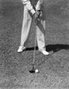 1930s-1940s Man Waist Down With Golf Club Addressing Ball Poster Print By Vintage Collection - Item # VARPPI187297
