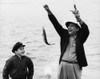 1950s-1960s Boy Son Fishing With Man Father Or Grandfather Holding Up Caught Fish On Line Laughing Having Fun Print By - Item # VARPPI176385