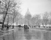 1920s-1930s The Capitol Building And Old Car Traffic In Winter Washington Dc Usa Print By Vintage Collection - Item # VARPPI178455