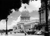 1930s-1940s The Capital Building Street Scene With Pedestrians Trees Lamps Motorcars & Sculptures Havana Cuba Print By - Item # PPI178747LARGE