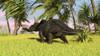 Triceratops roaming a tropical environment Poster Print - Item # VARPSTKVA600238P