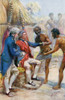 Captain James Cook Received By The Natives Of Hawaii. From The Life And Voyages Of Captain James Cook By C.G. Cash, Published Circa 1910. PosterPrint - Item # VARDPI1903981